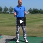 Golftip trainen op de drivingrange